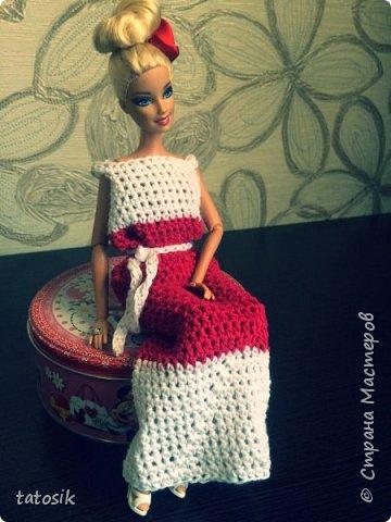 Платье крючком для моих Barbie фото 9