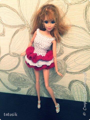 Платье крючком для моих Barbie фото 10