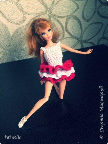 Платье крючком для моих Barbie фото 11