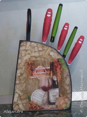 Захотела мама украсить подставку под ножи, вот что получилось)) фото 3