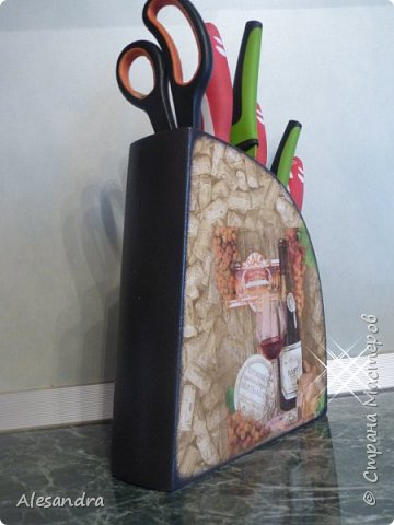 Захотела мама украсить подставку под ножи, вот что получилось)) фото 4
