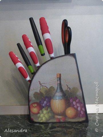 Захотела мама украсить подставку под ножи, вот что получилось)) фото 5