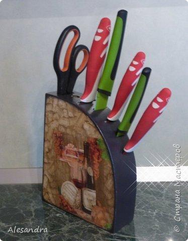 Захотела мама украсить подставку под ножи, вот что получилось)) фото 6
