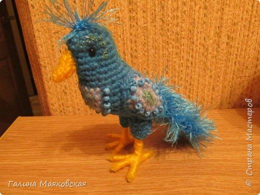 Привет всем! Сегодня родилась  синяя птица - на счастье! фото 1