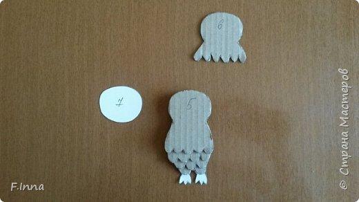 Всем привет.Хочу показать как я упростила создание своих совушек из картона.В прошлом МК   http://stranamasterov.ru/node/810681  я немного намудрила,а сейчас снова понадобилось сделать таких сов и чтобы упростить и ускорить процесс я сделала заготовки из тонкого картона,чтобы быстро их можно было обвести и всё.Ну и если кто то не видел прошлого МК,может заинтересует этот. фото 10