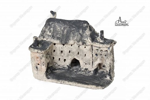 Керамические домики. Шамот, ангобы, примерно 15х10х15 см. фото 1