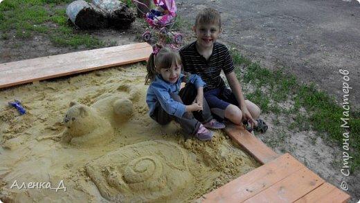 Прошлым летом я решила модернизировать нашу песочницу. Хочу поделится с вами тем, что получилось. фото 3
