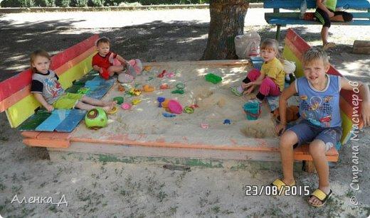 Прошлым летом я решила модернизировать нашу песочницу. Хочу поделится с вами тем, что получилось. фото 5