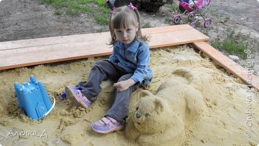 Прошлым летом я решила модернизировать нашу песочницу. Хочу поделится с вами тем, что получилось. фото 2