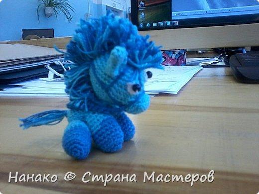 Маленький миленький пони, можно сказать брелок. Помимо пышной гривы у него есть уздечка))))  фото 1