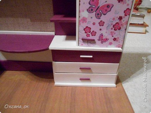 Привет всем! И снова я с игрушечной мебелью год спустя. Сегодня хочу представить мебель для девочки. Возможно кому-то понадобиться мастер-клас, потому постараюсь выложить более подробно и доступно. фото 38