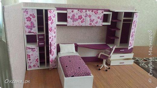 Привет всем! И снова я с игрушечной мебелью год спустя. Сегодня хочу представить мебель для девочки. Возможно кому-то понадобиться мастер-клас, потому постараюсь выложить более подробно и доступно. фото 41
