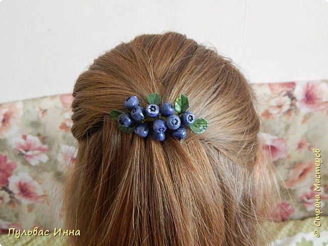 Захотелось мне опять что-нибудь сделать такое ягодное....люблю я наши северные ягоды. Вот и наделала разных заколочек для волос. фото 13