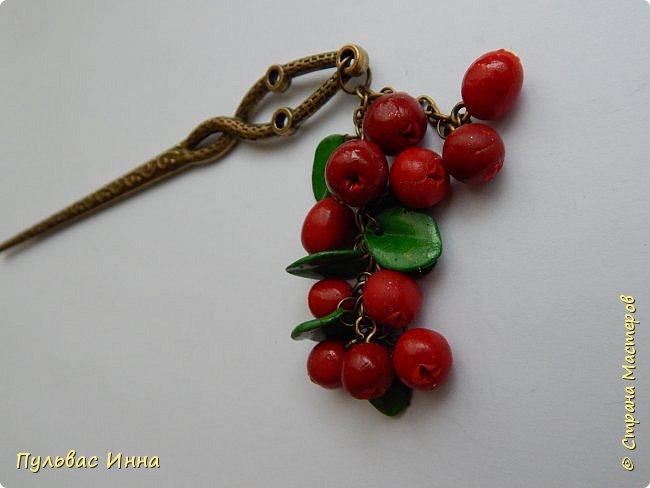 Захотелось мне опять что-нибудь сделать такое ягодное....люблю я наши северные ягоды. Вот и наделала разных заколочек для волос. фото 12