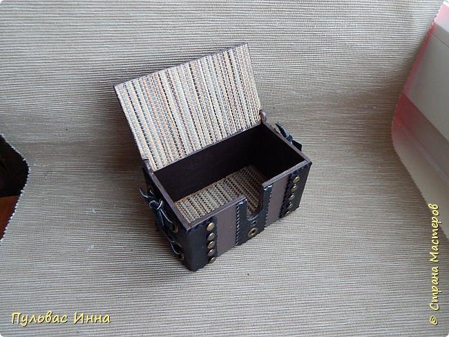 Скоро день связиста... ну почти скоро)))) попросили сделать набор начальнику  в подарок.Этот набор состоит из карандашницы, визитницы и купюрницы. фото 6