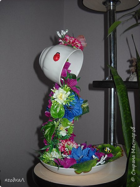 Топиарий, чаша изобилия, корзинка из шишек. фото 5