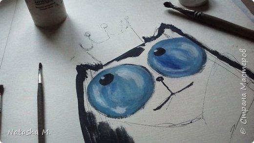 Доброй ночи! Парочка рисунков, акриловой краской.  Формат А3.  Когда душа рисует...  фото 6