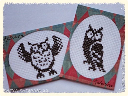 Эту мини-серию карточек с так любимыми мною совами я сделала для обмена с Оксаной (Oksana Gordey) Вторую карточку я,по традиции,оставлю себе. фото 1
