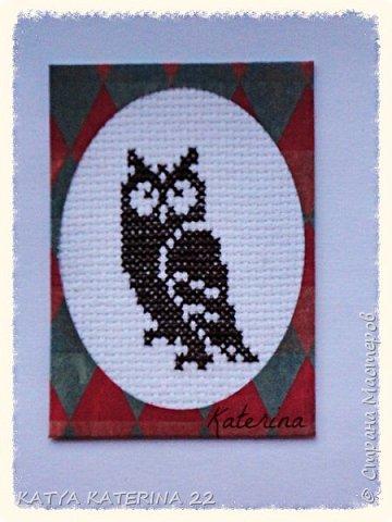 Эту мини-серию карточек с так любимыми мною совами я сделала для обмена с Оксаной (Oksana Gordey) Вторую карточку я,по традиции,оставлю себе. фото 3