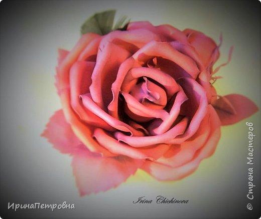 Роза из фоамирана. Брошь-заколка.