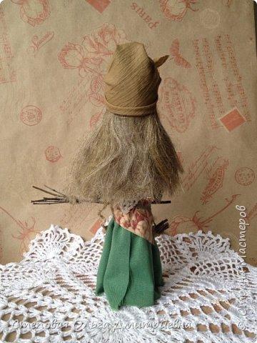 Кукла Баба Яга, рост 26 см. Волосы льняные. фото 3