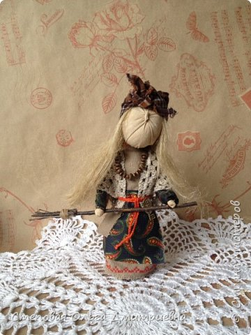 Кукла Баба Яга, рост 26 см. Волосы льняные. фото 4