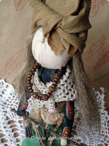 Кукла Баба Яга, рост 26 см. Волосы льняные. фото 2