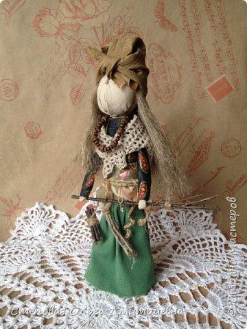 Кукла Баба Яга, рост 26 см. Волосы льняные. фото 1