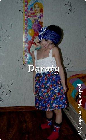 """Приветствую всех! За последние полгода гардероб моей дочери пополнился обновками бренда """"сделано мамой"""". И решили мы с дочкой провести фотосессию и показать вам наши обновки. Любуйтесь.  Летний сарафан. фото 1"""