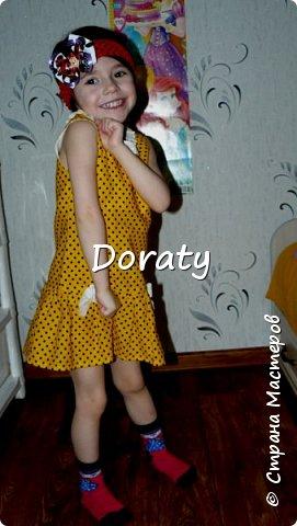 """Приветствую всех! За последние полгода гардероб моей дочери пополнился обновками бренда """"сделано мамой"""". И решили мы с дочкой провести фотосессию и показать вам наши обновки. Любуйтесь.  Летний сарафан. фото 9"""