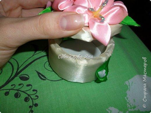 Привет, жители Страны! Я хотела бы представить вам мою шкатулку, украшенную цветами  канзаши фото 5