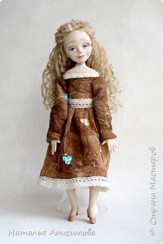 Добрый день! Сегодня я к Вам с новой куколкой. Подвижная, интерьерная кукла ручной работы. Голова, кисти рук и ножки до колена - La Doll, тельце текстильное.  фото 5