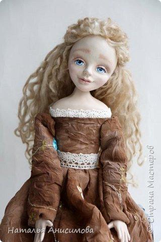 Добрый день! Сегодня я к Вам с новой куколкой. Подвижная, интерьерная кукла ручной работы. Голова, кисти рук и ножки до колена - La Doll, тельце текстильное.  фото 1