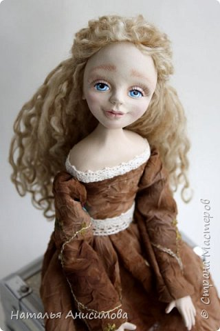 Добрый день! Сегодня я к Вам с новой куколкой. Подвижная, интерьерная кукла ручной работы. Голова, кисти рук и ножки до колена - La Doll, тельце текстильное.  фото 2