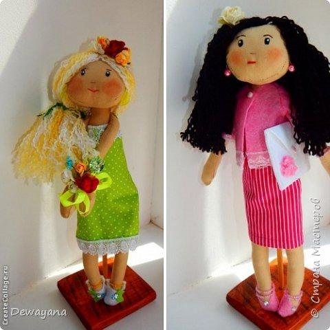 Мое самое большое увлечение - куклы. Часть из них занимают полки в комнате у дочи, часть раздарена, а часть отдана на благотворительную Ярмарку в помощь больным деткам. Все образы придумываю по ходу ... Итак начнем- принцессы на горошине (мои любимые) фото 4