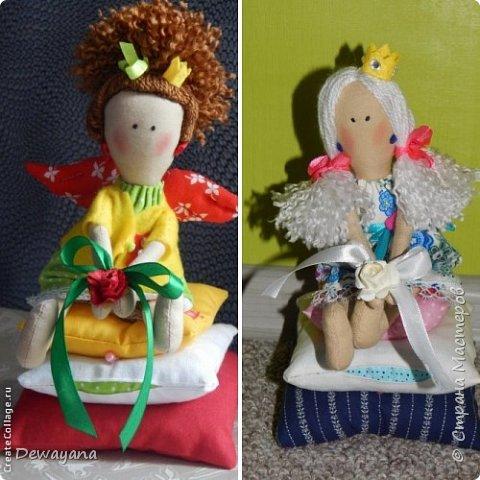 Мое самое большое увлечение - куклы. Часть из них занимают полки в комнате у дочи, часть раздарена, а часть отдана на благотворительную Ярмарку в помощь больным деткам. Все образы придумываю по ходу ... Итак начнем- принцессы на горошине (мои любимые) фото 1