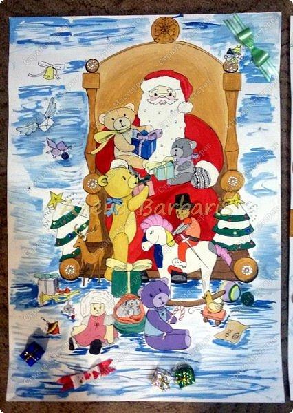 На новый год меня попросили оформить группу и нарисовать два плаката с дедом морозом и снегуркой )  фото 2