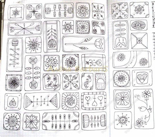 """У дочери проявляются мои гены и мой ребенок в 4 года рисует лучше чем некоторые взрослые. Как-нибудь выложу в другом посте. И ей хочется узнавать все новое и новое в рисовании. Заметила, что ей стали интересны геометрические фигуры, симмерия и узоры. С этих мыслей и возникла идея создать для нее некий """"учебник"""", где будут собраны различные варианты графических узоров, техник рисования. Вот самое начало. фото 5"""