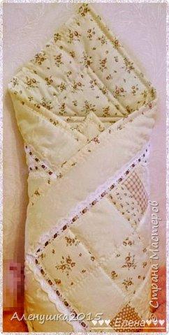 Именное одеялко-конверт на выписку из роддома  фото 11