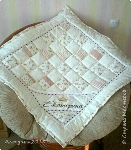 Именное одеялко-конверт на выписку из роддома  фото 2
