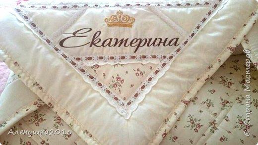 Именное одеялко-конверт на выписку из роддома  фото 9
