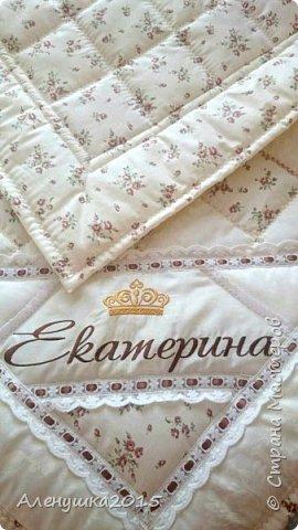 Именное одеялко-конверт на выписку из роддома  фото 8