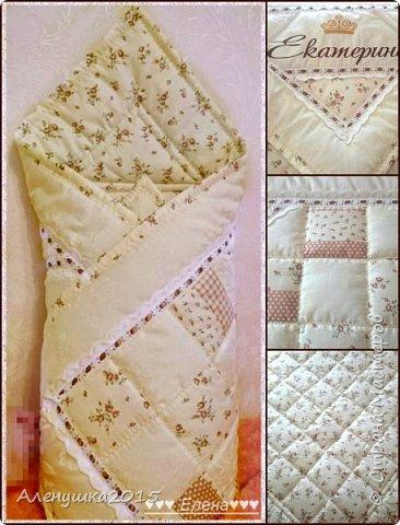Именное одеялко-конверт на выписку из роддома  фото 1