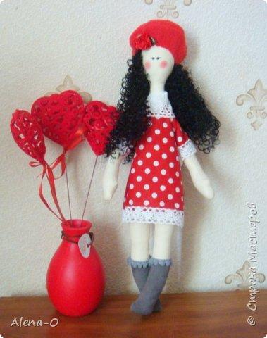 Всем доброго воскресного дня! Вот такая куколка у меня сшилась сегодня :) Буду благодарна за просмотр, замечания и советы! :)  фото 1
