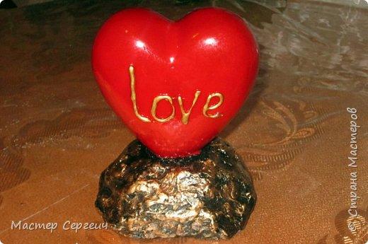 Подарок своми руками на 14 февраля и не только. Сердце в бронзе.