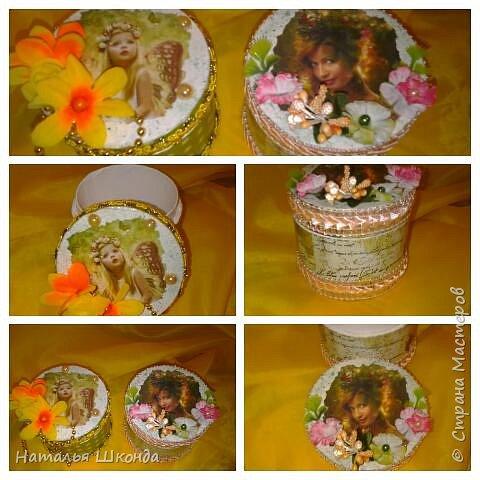 шкатулочки из бобин от ленолема (много фото) фото 4