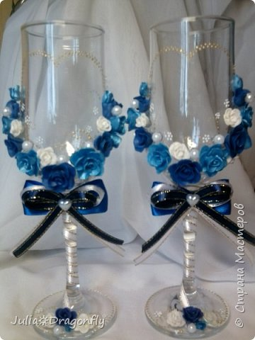 Набор делался на свадьбу в синем цвете... фото 5