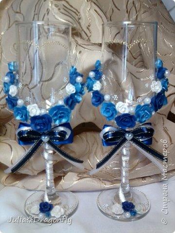 Набор делался на свадьбу в синем цвете... фото 4