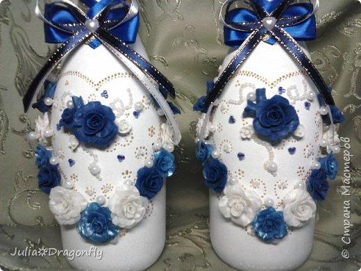 Набор делался на свадьбу в синем цвете... фото 2