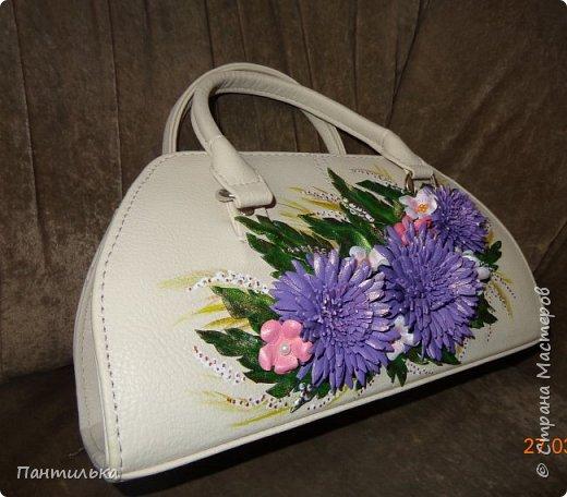 """Летняя сумка с объёмными цветами и пейзажем..."""" БЕЛЕЕТ ПАРУС..."""" фото 6"""